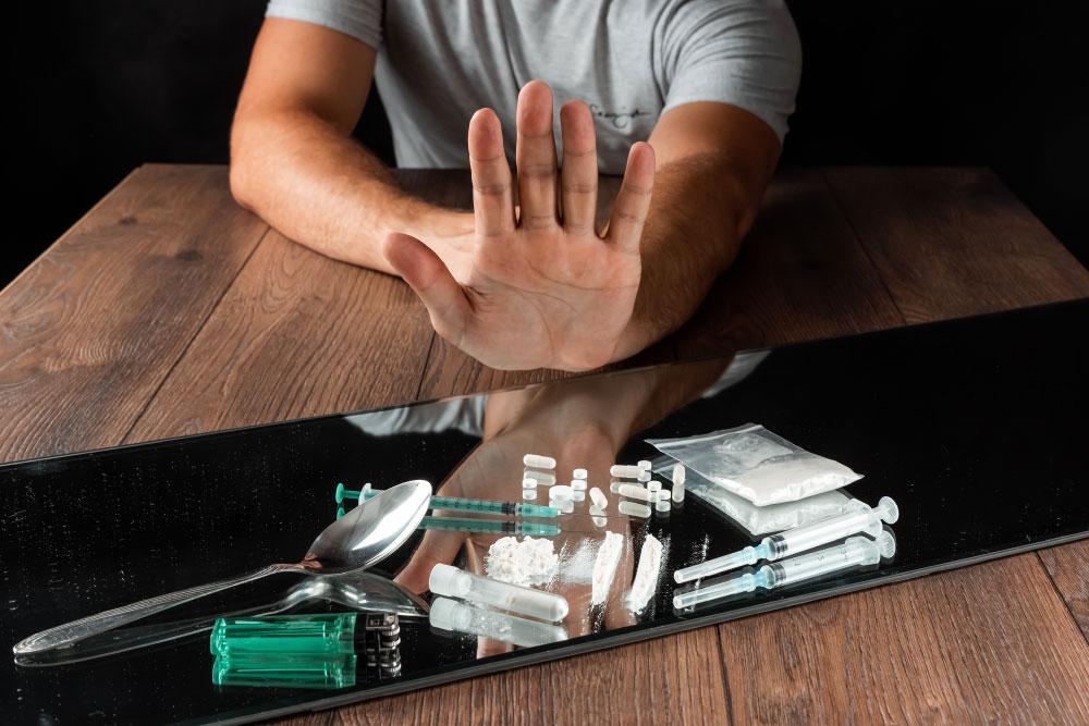 re rechazando drogas